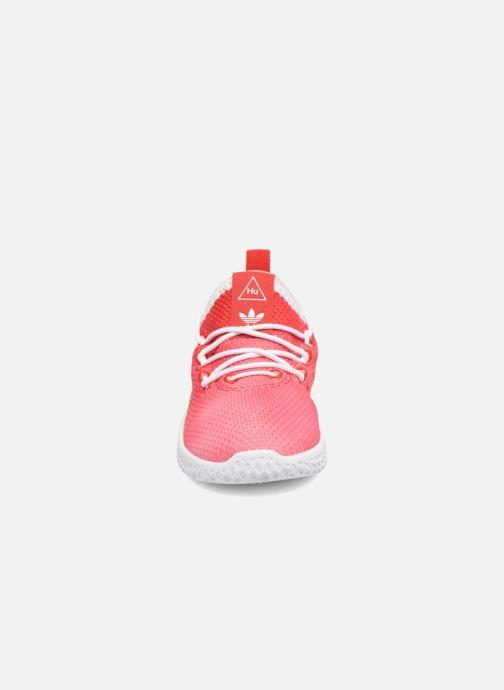 Deportivas adidas originals Pharrell Williams Tennis Hu I Naranja vista del modelo
