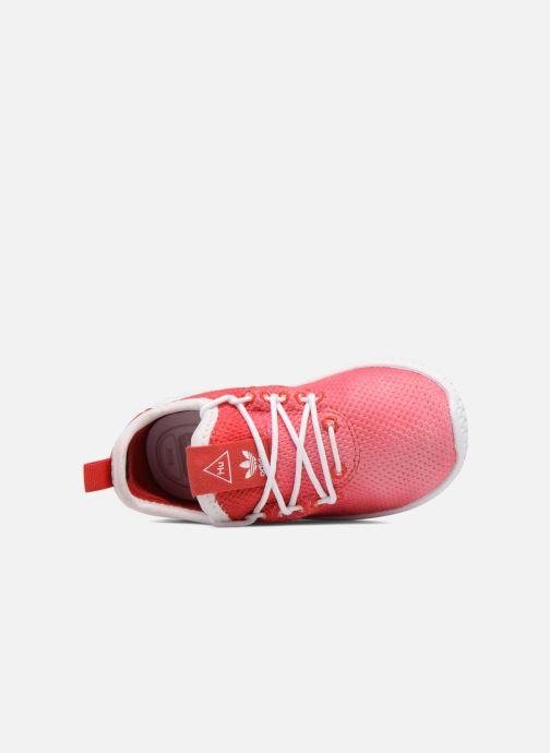 Deportivas adidas originals Pharrell Williams Tennis Hu I Naranja vista lateral izquierda