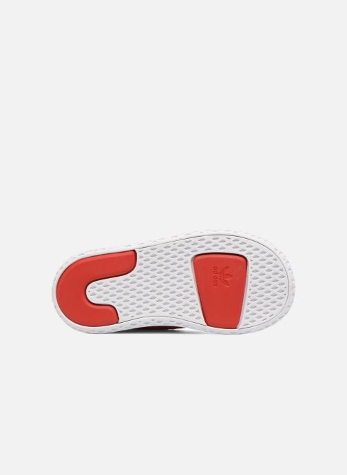 Baskets adidas originals Pharrell Williams Tennis Hu I Orange vue haut