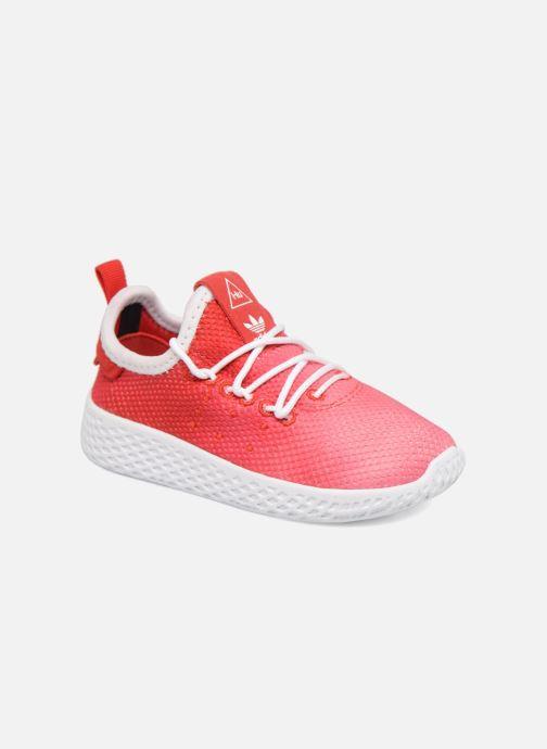 Baskets adidas originals Pharrell Williams Tennis Hu I Orange vue détail/paire