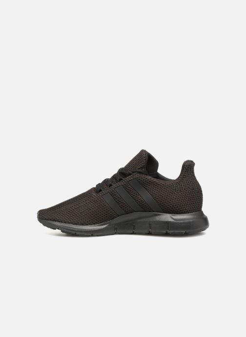 Sneaker adidas originals Swift Run J schwarz ansicht von vorne