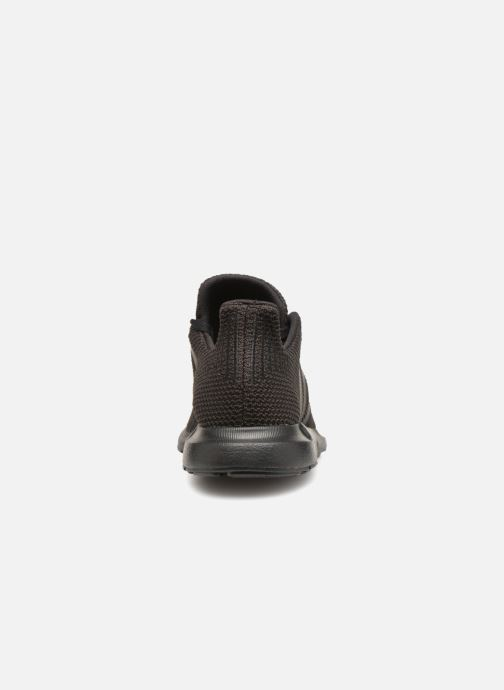 Sneaker adidas originals Swift Run J schwarz ansicht von rechts