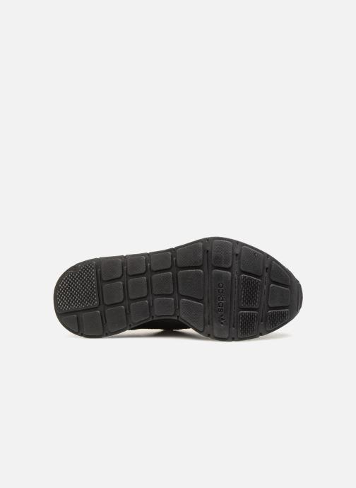 Sneaker adidas originals Swift Run J schwarz ansicht von oben