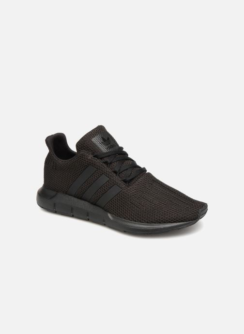Deportivas adidas originals Swift Run J Negro vista de detalle / par