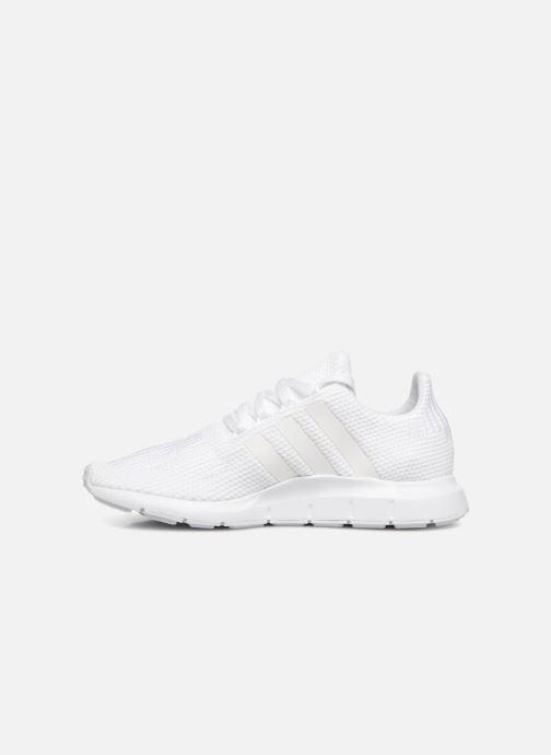 Sneaker adidas originals Swift Run J weiß ansicht von vorne