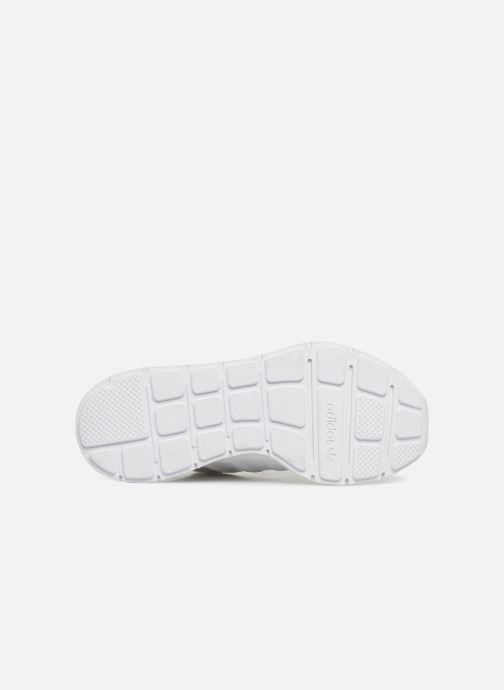 Baskets adidas originals Swift Run J Blanc vue haut