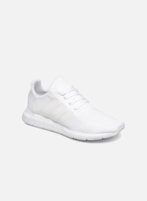 Deportivas adidas originals Swift Run J Blanco vista de detalle / par