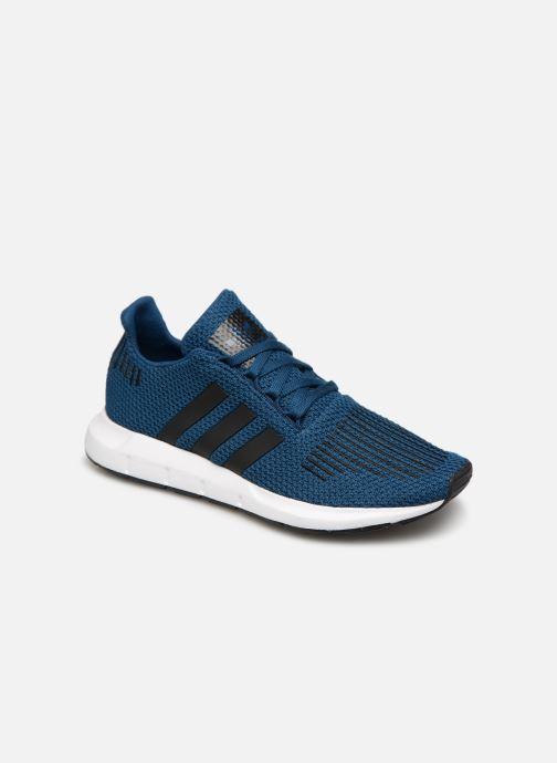 Baskets adidas originals Swift Run J Bleu vue détail/paire