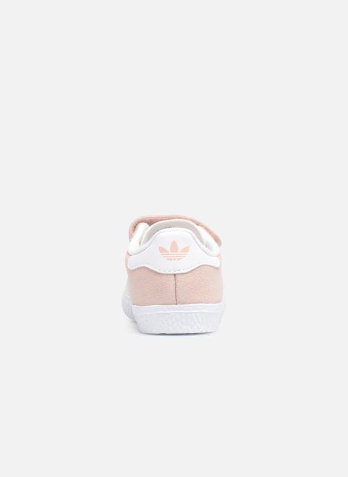 Baskets adidas originals Gazelle Cf I Rose vue droite