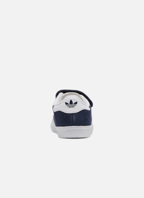 Baskets adidas originals Gazelle Cf I Bleu vue droite