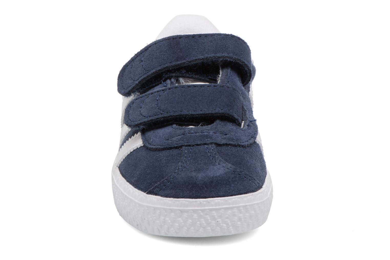Baskets Adidas Originals Gazelle Cf I Bleu vue portées chaussures