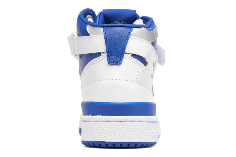 Baskets Adidas Originals Forum Mid J Bleu vue droite