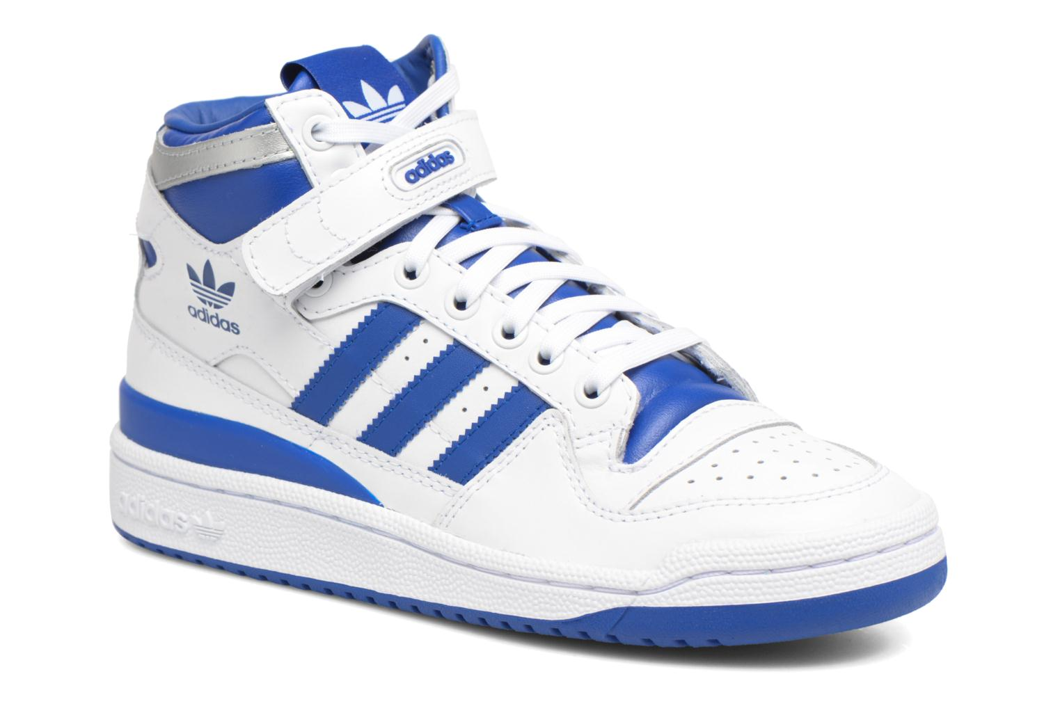 Baskets Adidas Originals Forum Mid J Bleu vue détail/paire