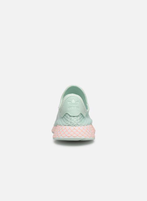 Baskets Adidas Originals Deerupt Runner J Vert vue droite