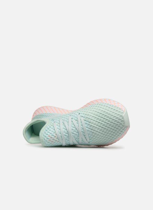 Baskets adidas originals Deerupt Runner J Vert vue gauche