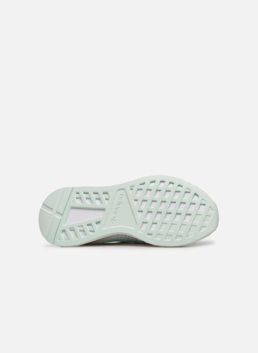 Baskets adidas originals Deerupt Runner J Vert vue haut
