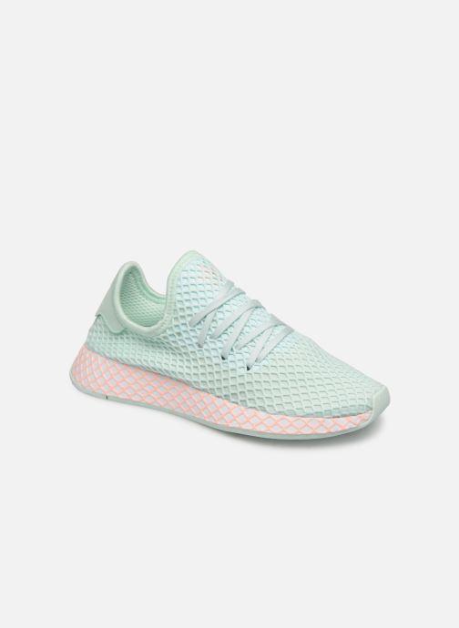 Baskets adidas originals Deerupt Runner J Vert vue détail/paire