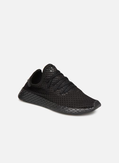 Sneakers adidas originals Deerupt Runner J Sort detaljeret billede af skoene
