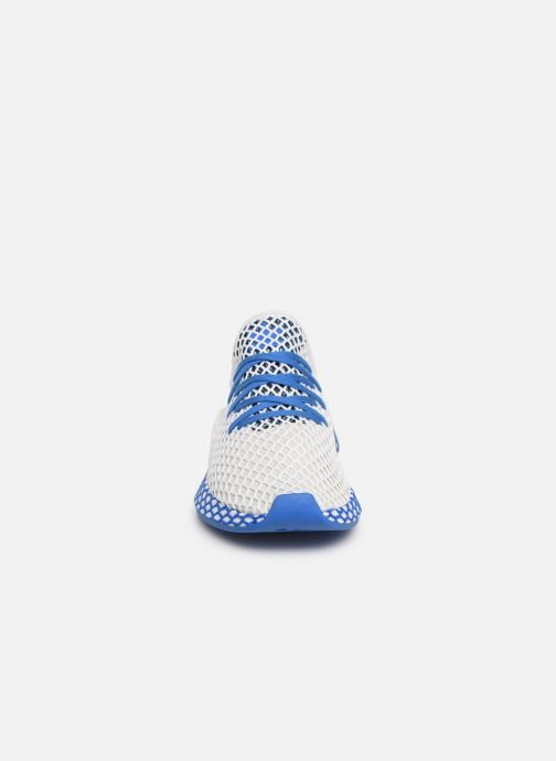 Baskets adidas originals Deerupt Runner J Blanc vue portées chaussures