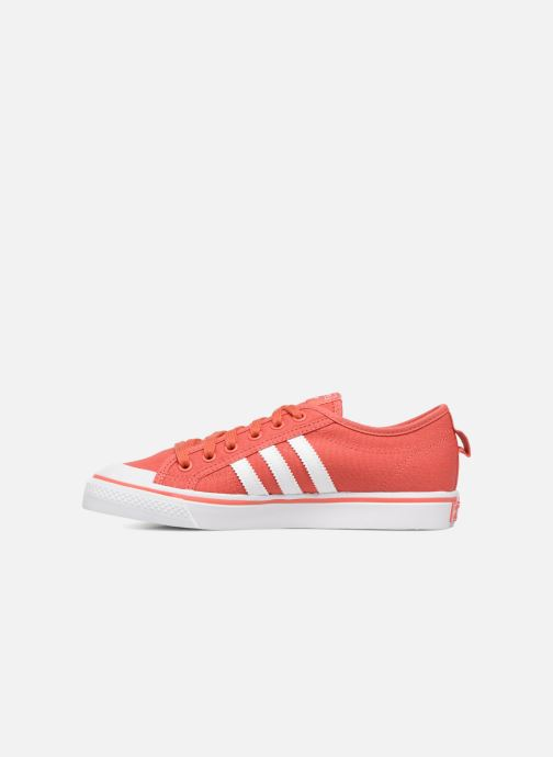 Baskets adidas originals Nizza J Rouge vue face