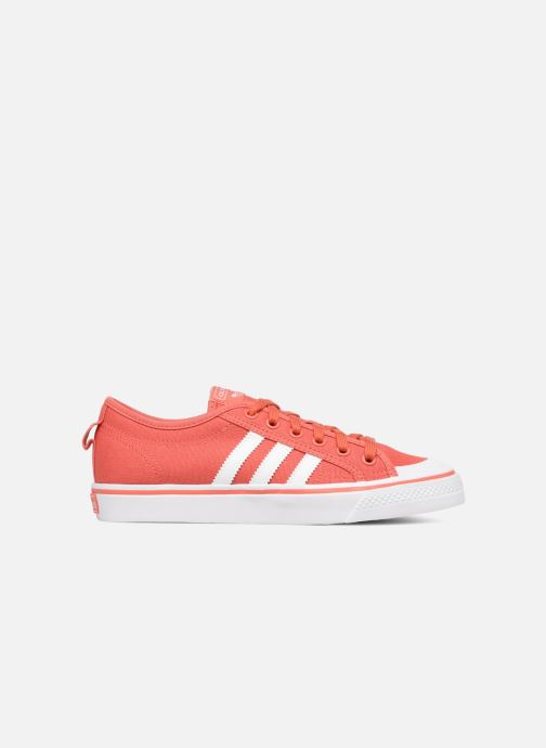 Baskets adidas originals Nizza J Rouge vue derrière