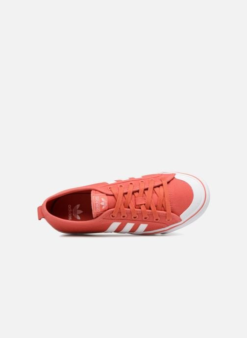 Baskets adidas originals Nizza J Rouge vue gauche