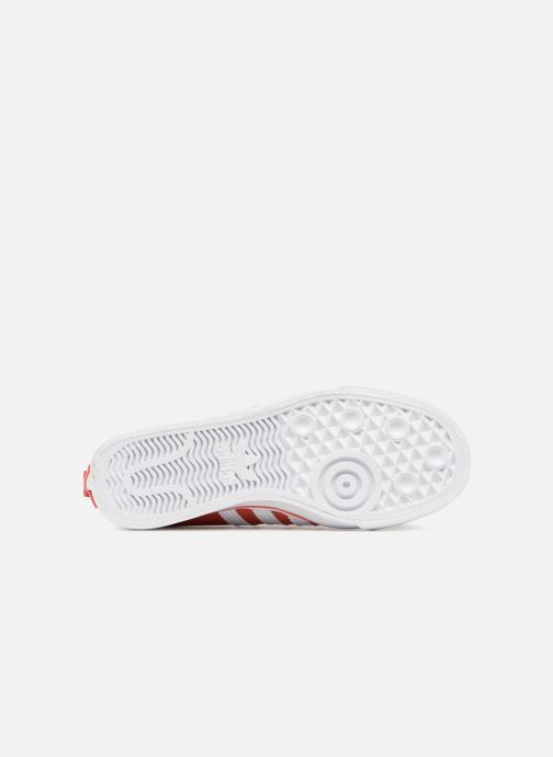 Baskets adidas originals Nizza J Rouge vue haut