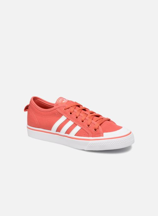 Baskets adidas originals Nizza J Rouge vue détail/paire
