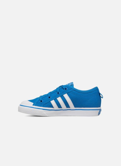 Trainers adidas originals Nizza C Blue front view