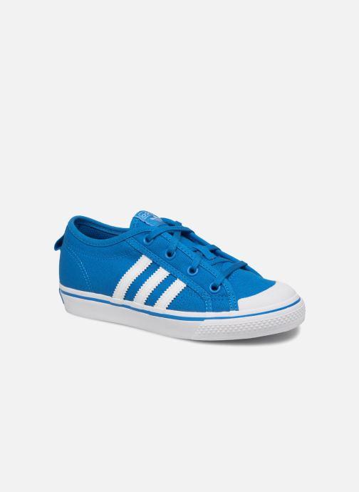 Trainers adidas originals Nizza C Blue detailed view/ Pair view