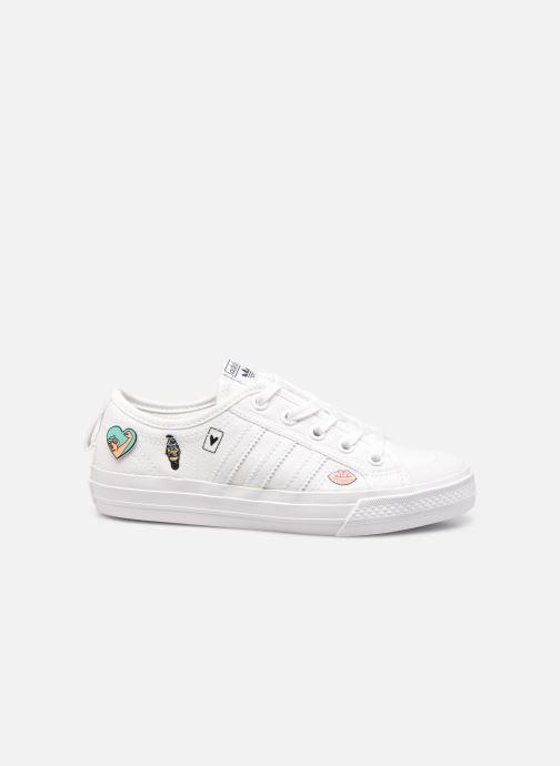 Sneakers adidas originals Nizza C Wit achterkant
