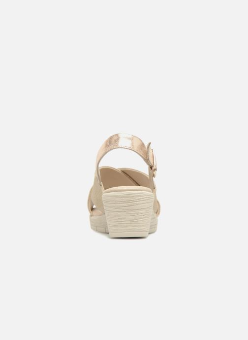 Sandales et nu-pieds The Flexx Ambiguous Or et bronze vue droite