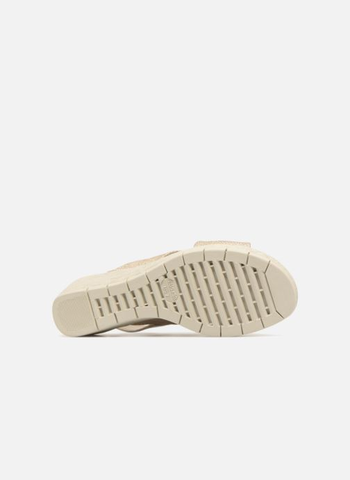 Sandales et nu-pieds The Flexx Ambiguous Or et bronze vue haut