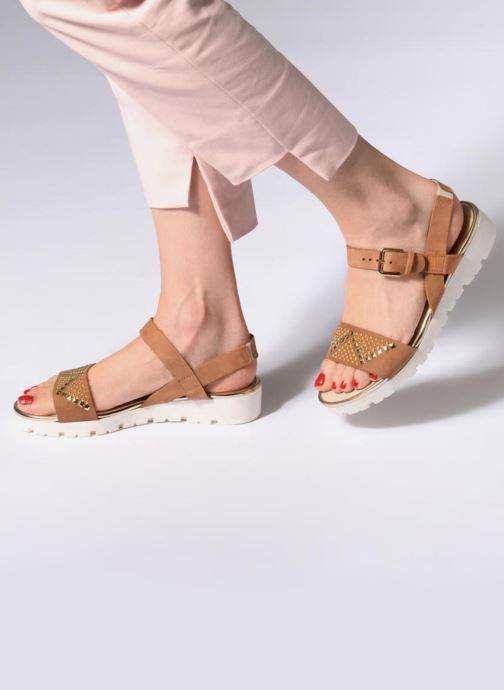 Sandales et nu-pieds The Flexx Caroline Marron vue bas / vue portée sac