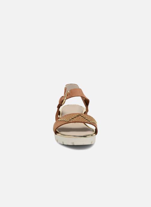 Sandales et nu-pieds The Flexx Caroline Marron vue portées chaussures