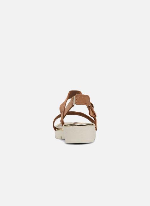 Sandales et nu-pieds The Flexx Caroline Marron vue droite