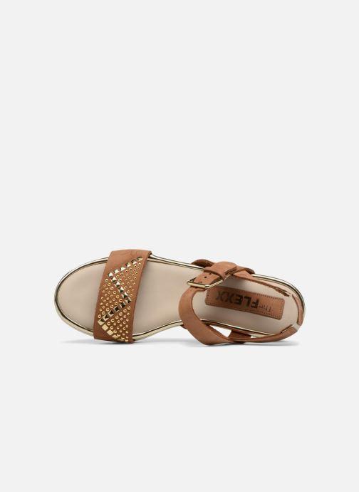 Cognac Et The Nu pieds Flexx Caroline Sandales vmIb76Yfgy