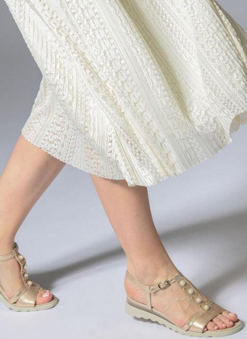 Sandales et nu-pieds The Flexx Cut Me Or et bronze vue bas / vue portée sac