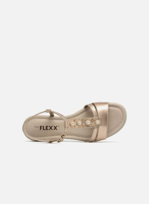 Sandals The Flexx Cut Me Bronze and Gold view from the left