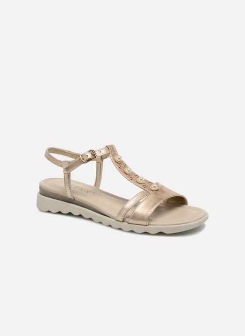 Sandals The Flexx Cut Me Bronze and Gold detailed view/ Pair view