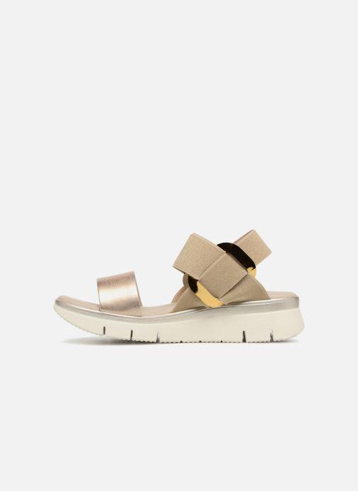 Sandales et nu-pieds The Flexx Fonzie Or et bronze vue face