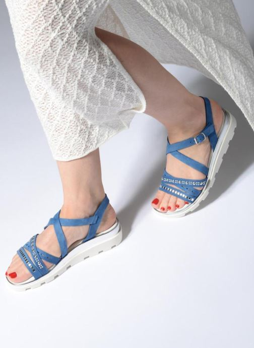 Sandals The Flexx Grimilde Blue view from underneath / model view