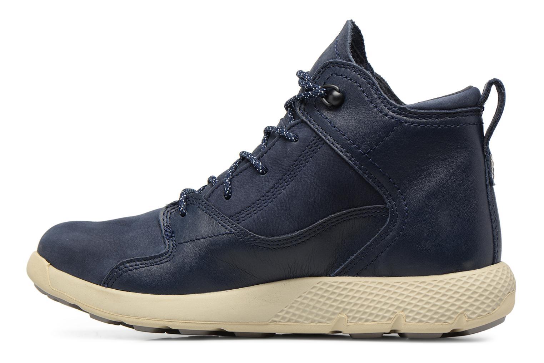 Baskets Timberland FlyRoam Leather Hiker Bleu vue face