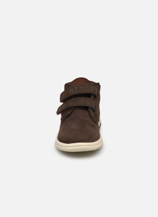 Bottines et boots Timberland Toddle Tracks H&L Boot Marron vue portées chaussures