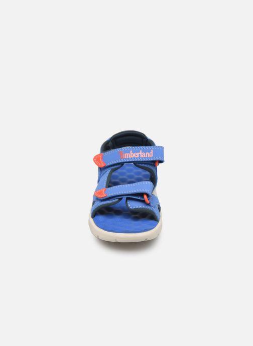 Sandales et nu-pieds Timberland Perkins Row 2-Strap Bleu vue portées chaussures