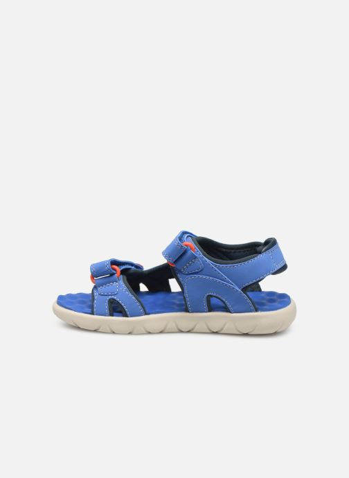 Sandales et nu-pieds Timberland Perkins Row 2-Strap Bleu vue face
