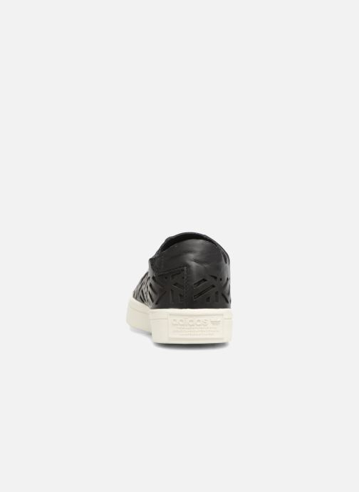 Trainers adidas originals COURTVANTAGE CUTOUT Black view from the right