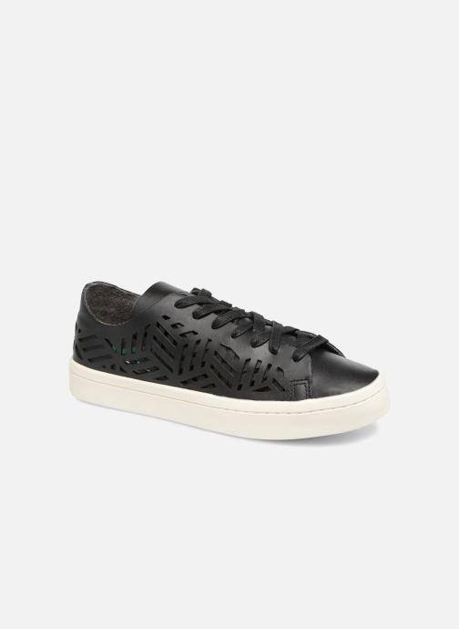 904c3e33df8 adidas originals COURTVANTAGE CUTOUT (Noir) - Baskets chez Sarenza ...
