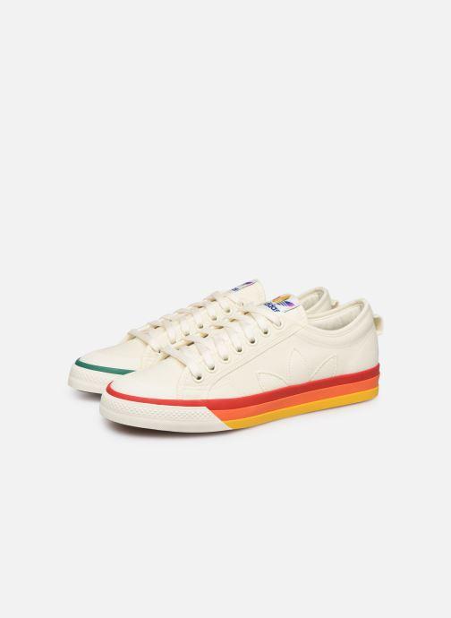 Baskets adidas originals NIZZA Blanc vue 3/4