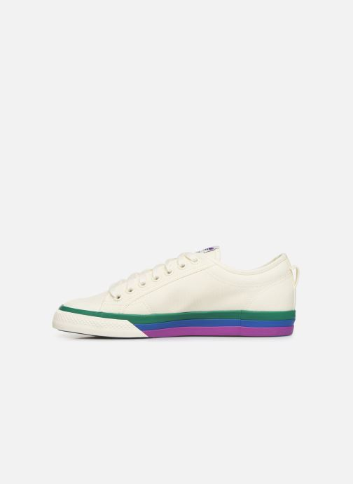 Sneakers adidas originals NIZZA Vit bild från framsidan